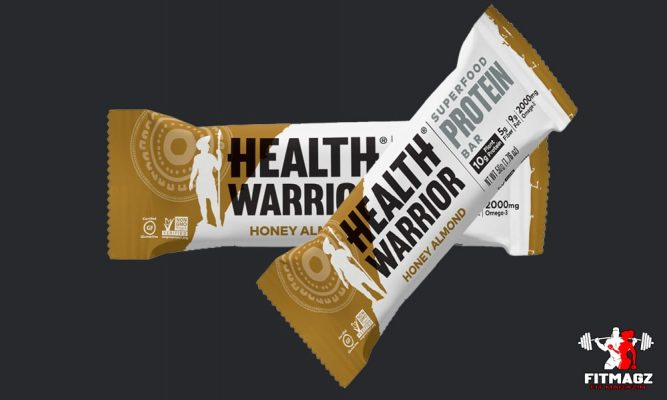 Health Warrior Superfoods Honey Almond Protein Bar