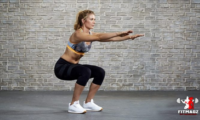 Squats: exercises at home to build muscle