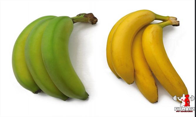 The difference between green and yellow bananas