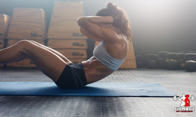 Tighten the abdominal muscles with exercises