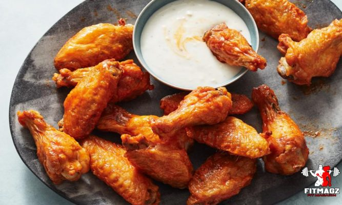 Chicken wings: 43 calories